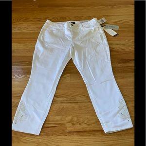 NYDJ NWT Lift Tuck white ankle slim fitting jean